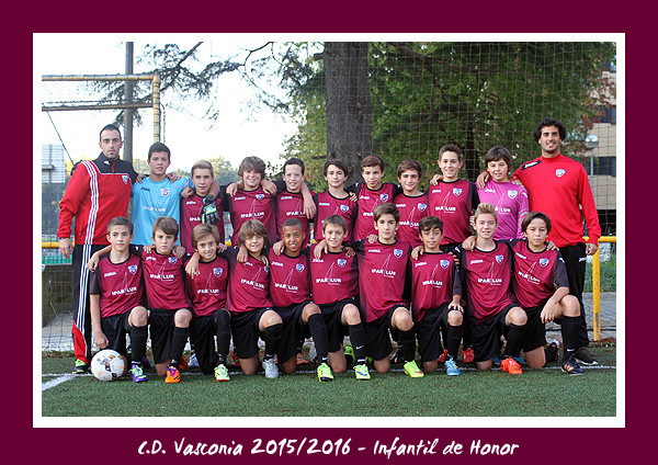 C.D. Vasconia Infantil de Honor 2015-2016
