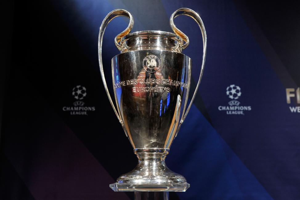 NYON, SWITZERLAND - MARCH 15:  The UEFA Champions League trophy is displayed during the UEFA Champions League quarter finals draw rehearsal at the UEFA headquarters on March 15, 2013 in Nyon, Switzerland.  (Photo by Harold Cunningham/Getty Images)